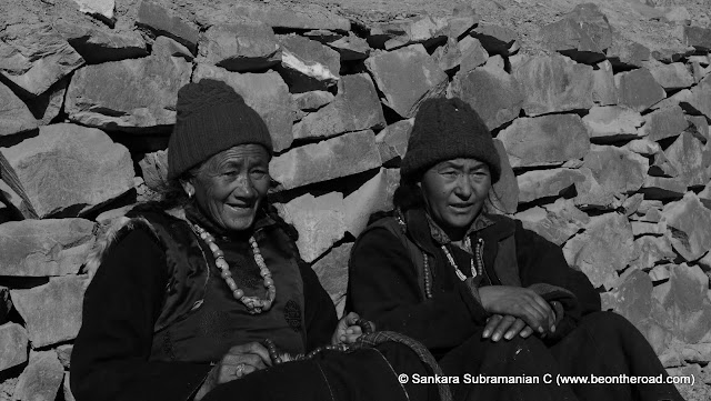 Ladakhi women - old and young