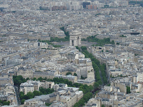 Place de l'Etoile and the Arc du Triomphe