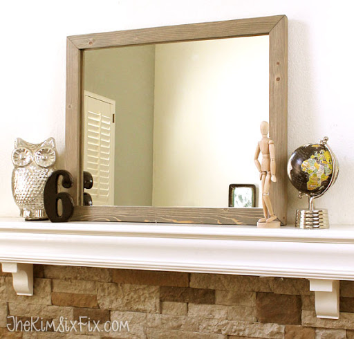 create this fabulous knockoff west elm wooden framed mirror without any fancy power tools