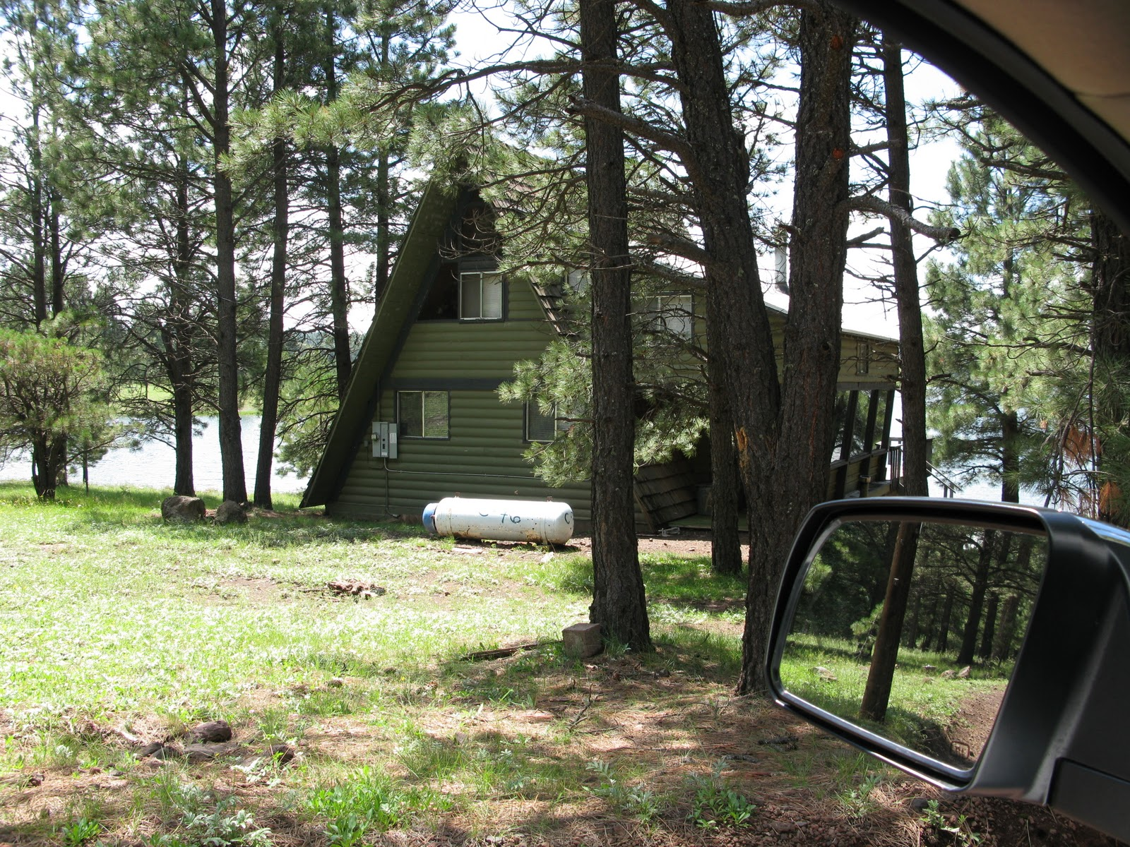 drive from the sleeps arizona rentals img az lake in hawley cabin at again cabins b of
