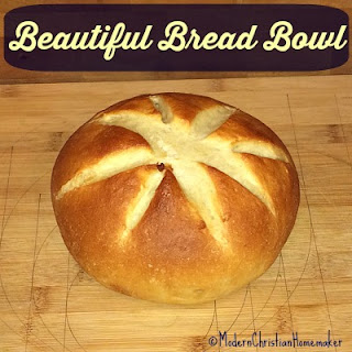 A Beautiful Bread Bowl for Soups and Stews.