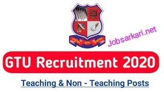 GTU Recruitment 2020 for Various Post