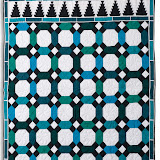 ALIZARES - Elizabeth Augereau - piécé machine et quilté main - Mosaïque de la Salle de La Barca - Palais de L'Alhambra de Grenade - Espagne