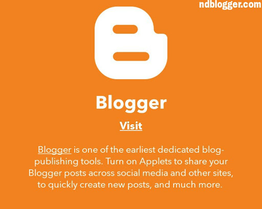 ifttt on a blogger blog