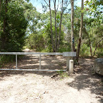 Locked gate on trail on the coastal walk (388238)