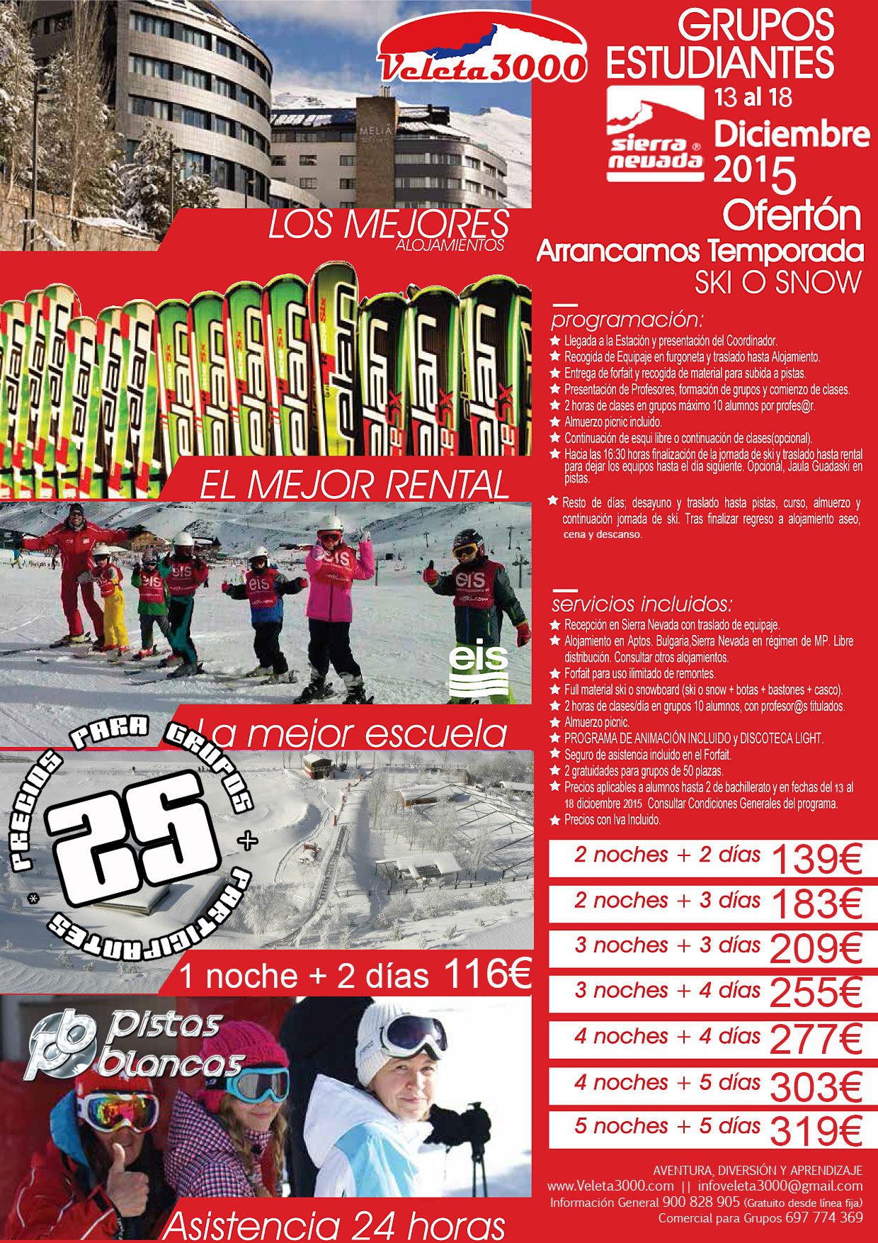 Arranca la temporada de esqui 2015 2016 en Sierra Nevada