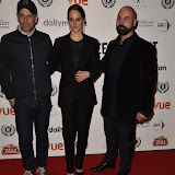 OIC - ENTSIMAGES.COM - Kai Barry, Noemie Merlant and Srdjan Stakic at the Raindance Opening Night Gala at the Vue in Leicester Square, London on the 23rd September 2015. Photo Mobis Photos/OIC 0203 174 1069