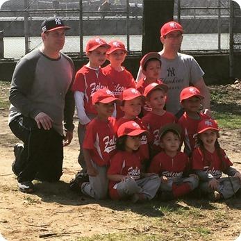 Nehemiah's Falcons T Ball Team