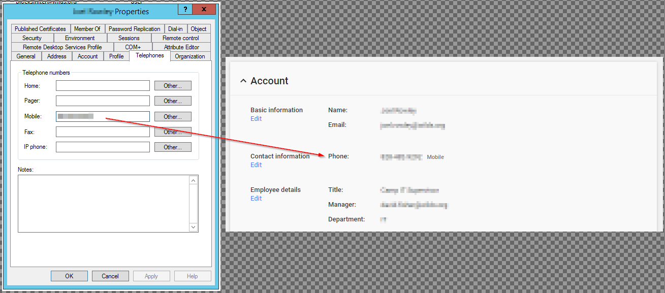 Can additional user contact details by synced from Active