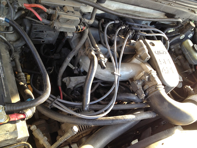 heater hose & spark plug wire routing