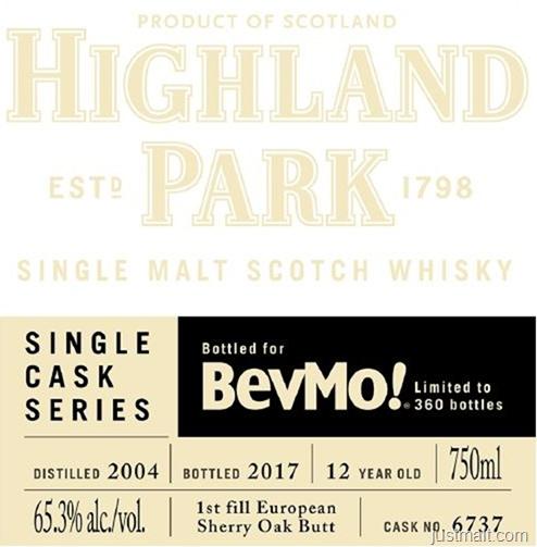 Highland Park SIngle Cask Series BevMo!