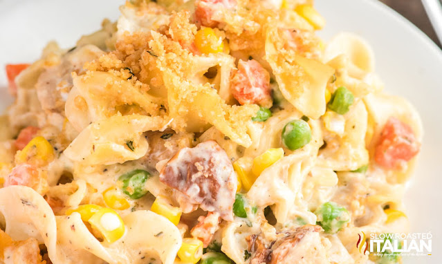 Chicken Noodle Casserole on a plate