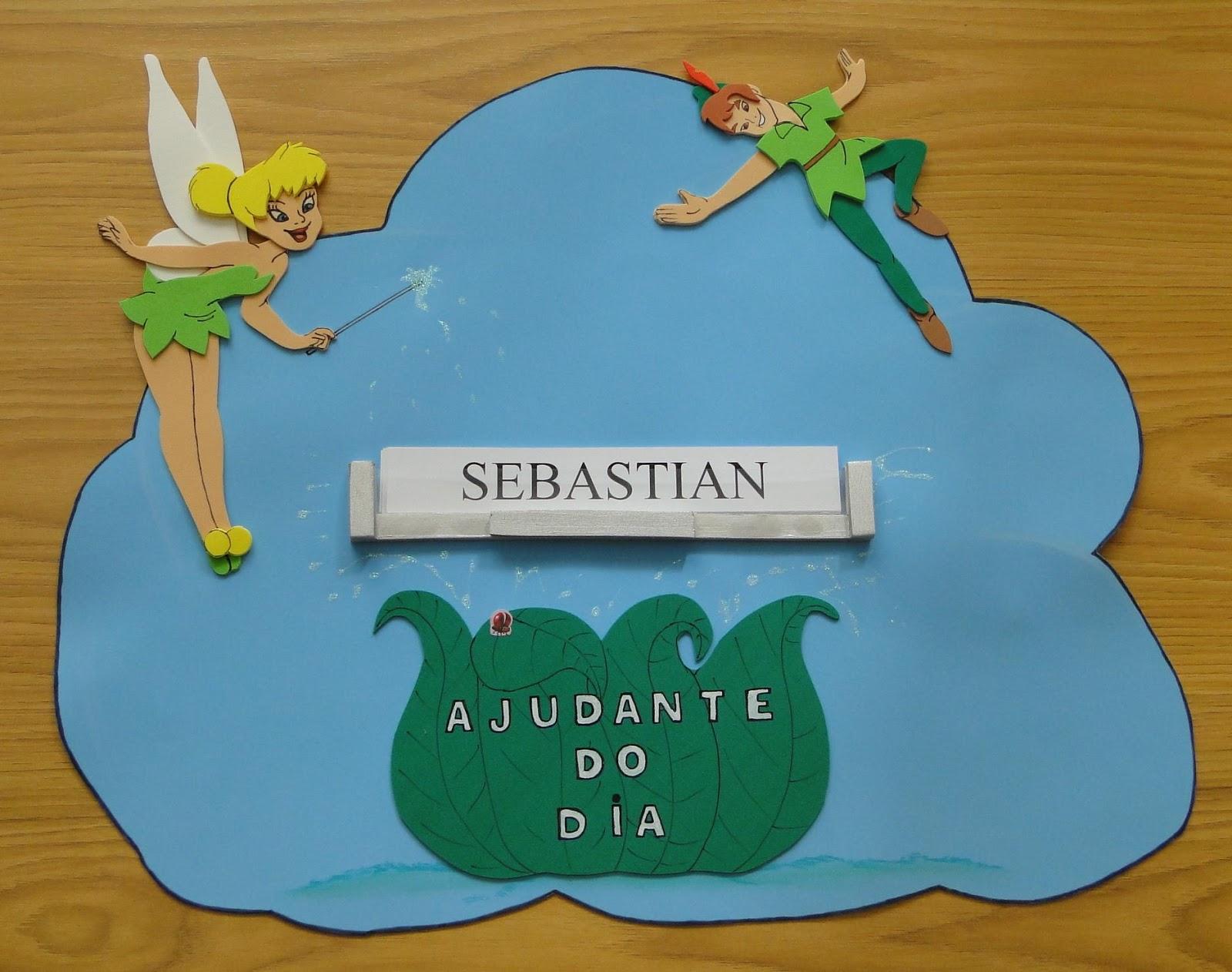 decoracao de sala aula em eva : decoracao de sala aula em eva:Moldes ou prontos: Decoração de Sala de Aula Peter Pan em EVA