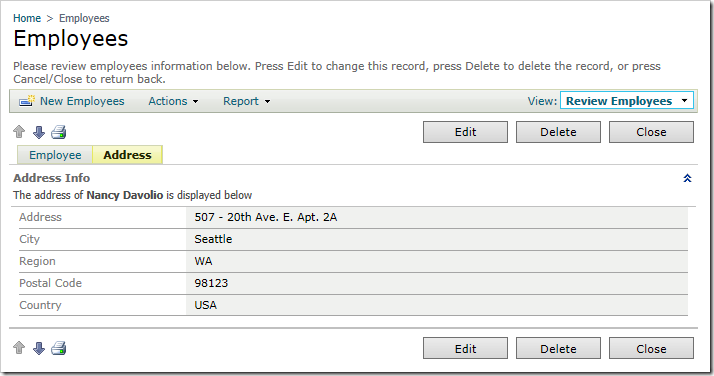 The Desktop user interface also displays field values in the category description.