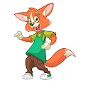 Cartoon Fox Funny Free Download Vector CDR, AI, EPS and PNG Formats