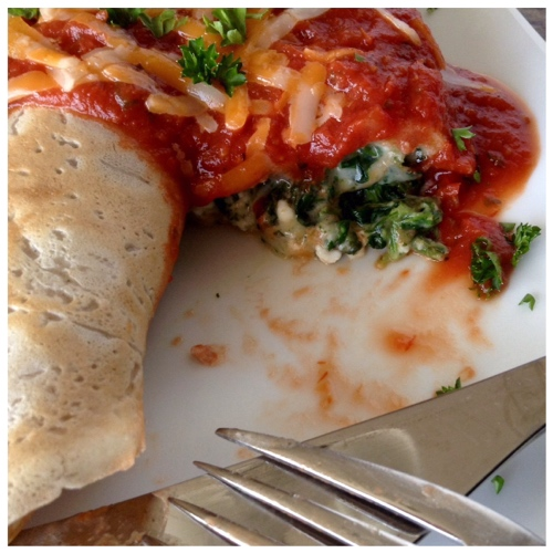 Gluten Free Spinach Cannelloni Crepes - Dinner Was Delish