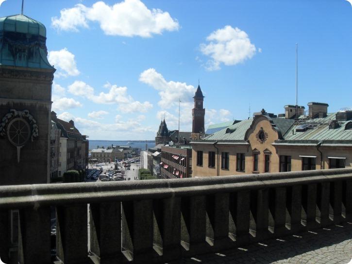 Udsigt midtvejs fra Terassetrapperne - Helsingborg
