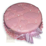 60. kép: Ünnepi torták - Rózsaszín szalagos