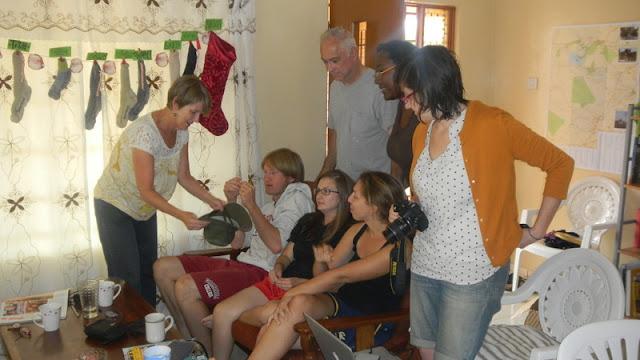 Gift Exhange, Christmas in Mochudi 2011