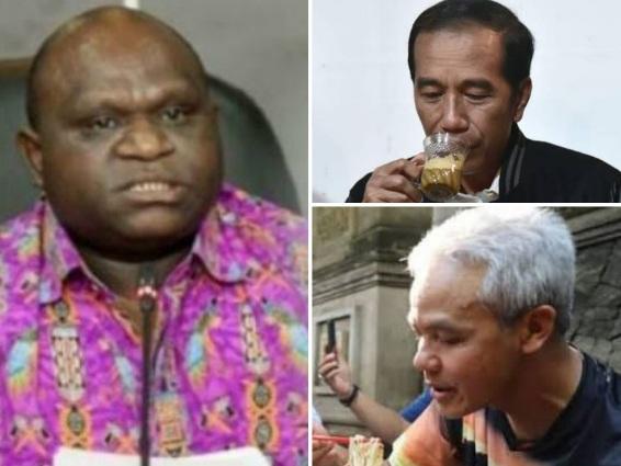 Natalius Pigai Bilang Jangan Percaya Orang Jawa Tengah, Jokowi dan Ganjar: Mereka Injak-injak Harga Diri Papua