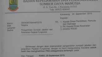 Besok, Pejabat Fungsional Disdik - Dinkes di Lantik di Wadas