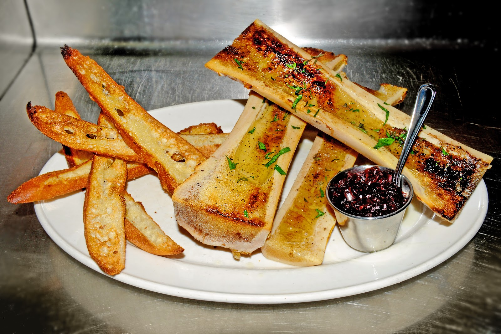 ... Tavern - Roasted Bone Marrow with baguette soldiers and shallot confit