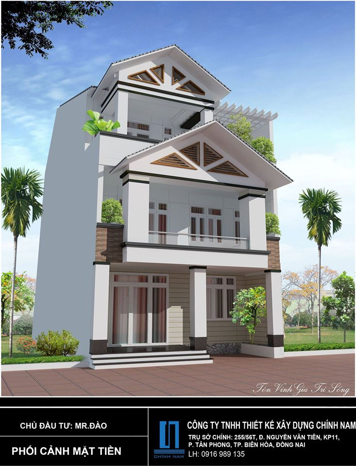 Thiết kế nhà anh Đào ở Biên Hoà - Đồng Nai