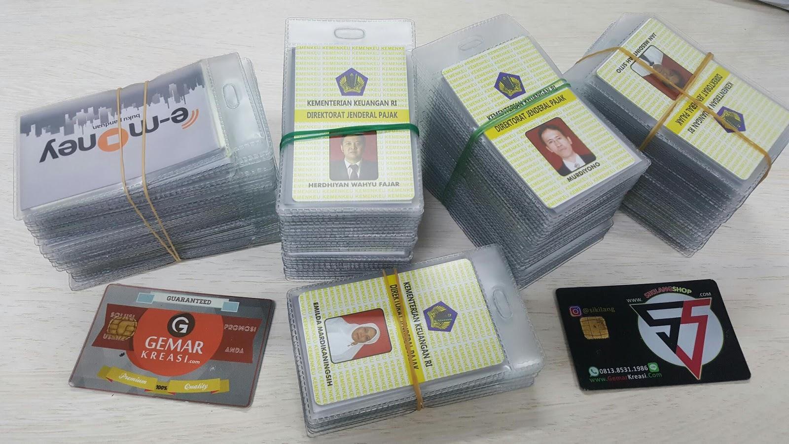 Cetak Id Card Emoney Custom Gemar Kreasi Solusi Promosi Usaha Anda Kartu Flazz Design Unik