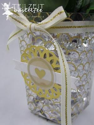 Stampin' Up! Thinlits Popcorn-Schachtel, Popcorn Box, Designer Series Paper, Fabulous Foil Designer Acetate, Designerazetat Glanzstücke