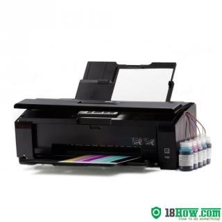 How to reset flashing lights for Epson Artisan 1430 printer