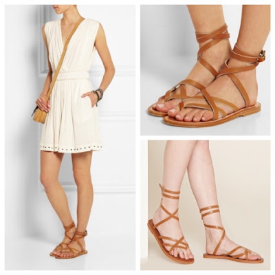 K Jacques Zenobie Ankle Wrap Sandals vs Forever 21