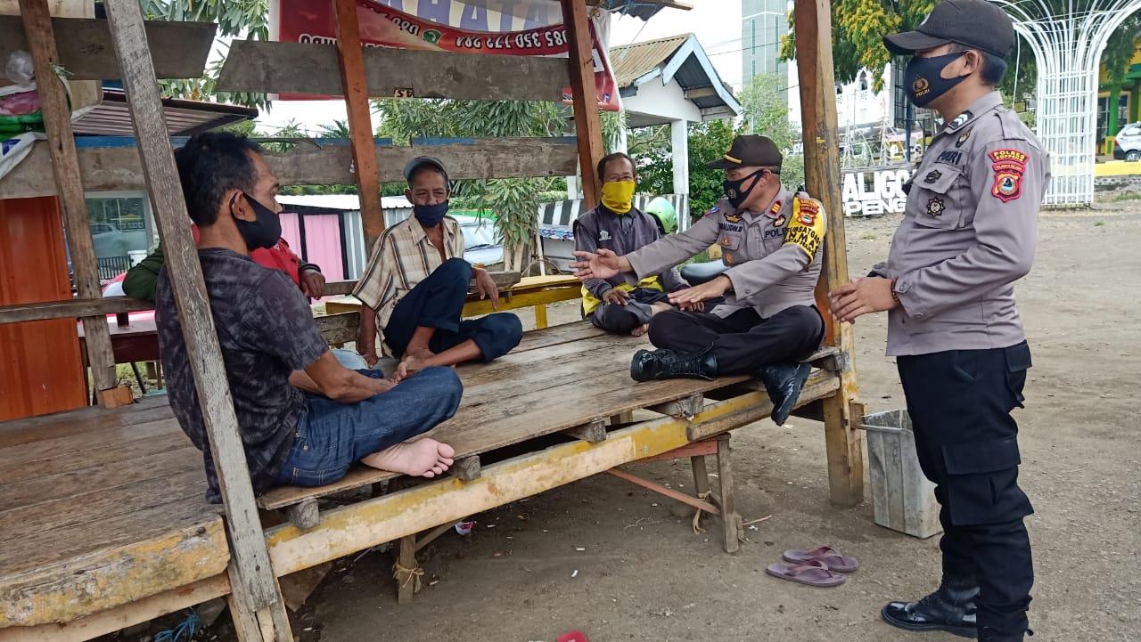 Sat Binmas Polres Soppeng Giat Silaturahmi Dengan Tokoh Masyarakat dan Komunitas Ojek