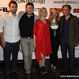 OIC - ENTSIMAGES.COM - Andrew Simpson, Abner Pastoll, Barbra Crampton, Josephine de La Baume and Frederic Pierrot at the Film4 Frightfest on Sunday    of  Road Games  UK Film Premiere at the Vue West End in London on the 30th August 2015. Photo Mobis Photos/OIC 0203 174 1069