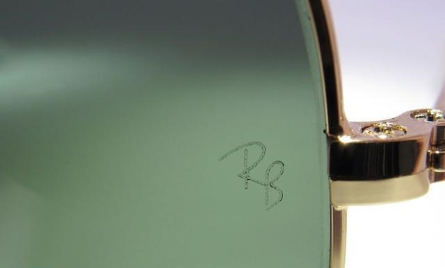 Ray Ban RB Etch Sign on Glasses