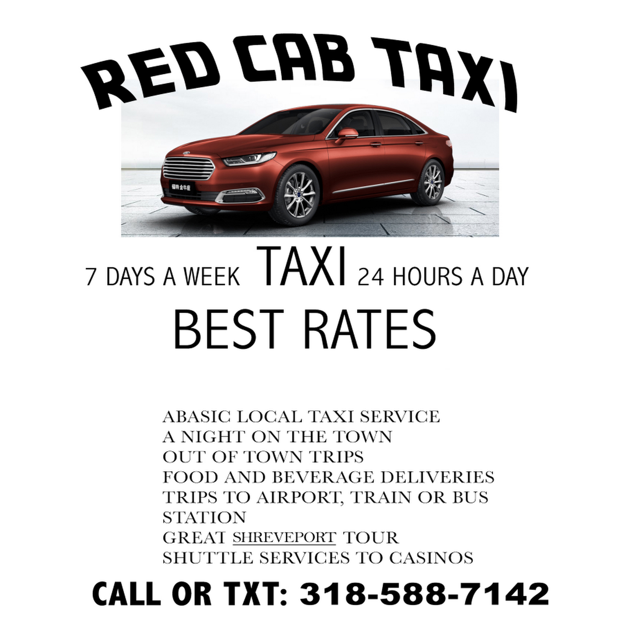 Yellow Cab Shreveport >> Red Cab Taxi Taxi Service In Shreveport