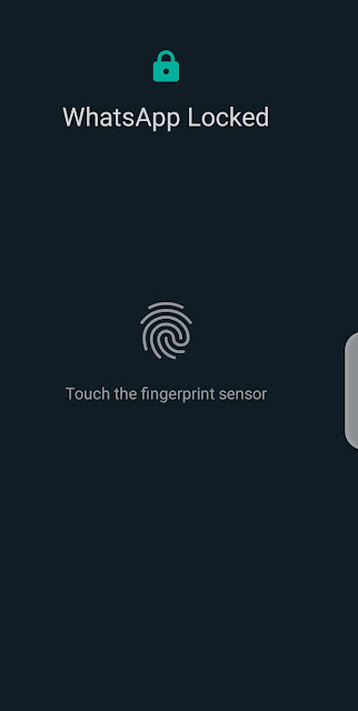 Cara Whatsapp Tetap Aman Dengan Finger Print  Dengan Cara Ini