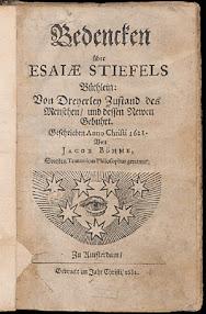 Cover of Jakob Bohme's Book Bedencken Uber Esaiae Stiefels Buchlein (1682,in German)