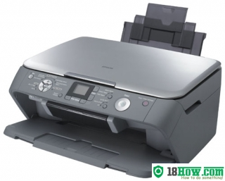 How to reset flashing lights for Epson RX520 printer