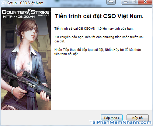cửa sổ cài game bắn súng