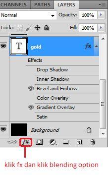 Cara Membuat Teks Atau Font Gold Dengan Photoshop