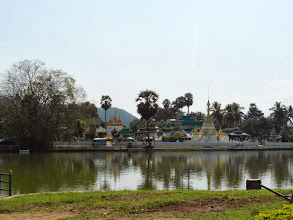 Photo: View of temples from across the lake