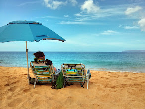 Photo: Our last day in Hawaii and the last day of our 4 month trip.  We spent it at Big Beach...
