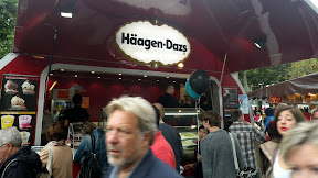 Full circle! As I'm sure you're aware, Haagen-Dazs is just two made-up words that look European to American eyes... now we Yanks are selling our own lies back to them! Wunderbar!