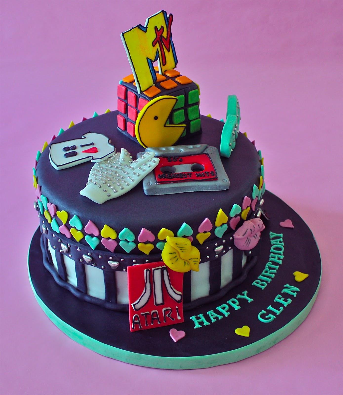 -: 80'S THEME CAKE