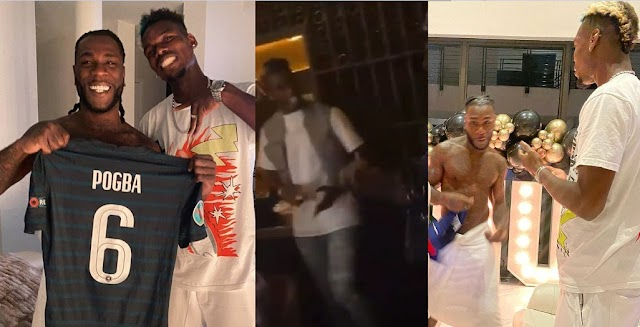 """Paul Pogba Celebrate Birthday with Burna Boy in Miami as He Rebrand """"Focus"""" dance moves [Video/Photos]"""
