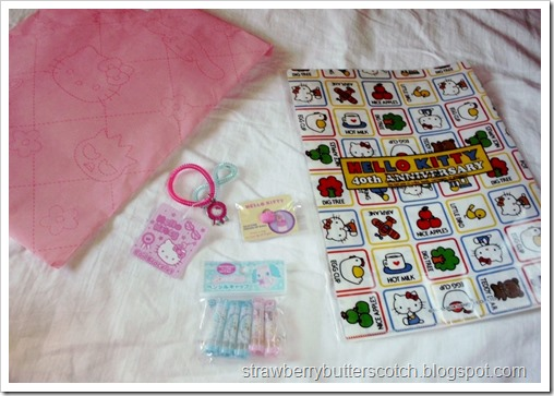 Cute Contents of Sanrio Grab Bag