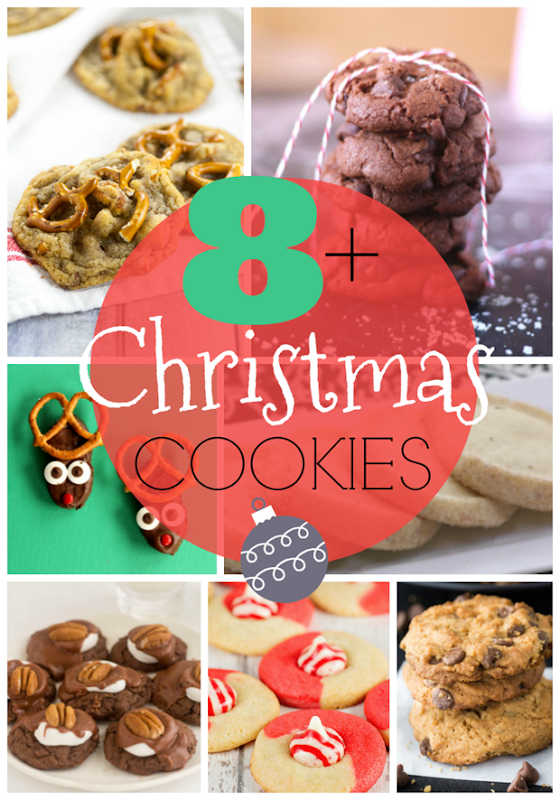 8  Christmas Cookie Recipes at GingerSnapCrafts.com #cookies #recipes #Christmas