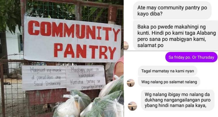 Babaeng nakipag usap sa may-ari ng Community Pantry nagalit matapos hindi mapagbigyang ipa-deliver ang ayuda