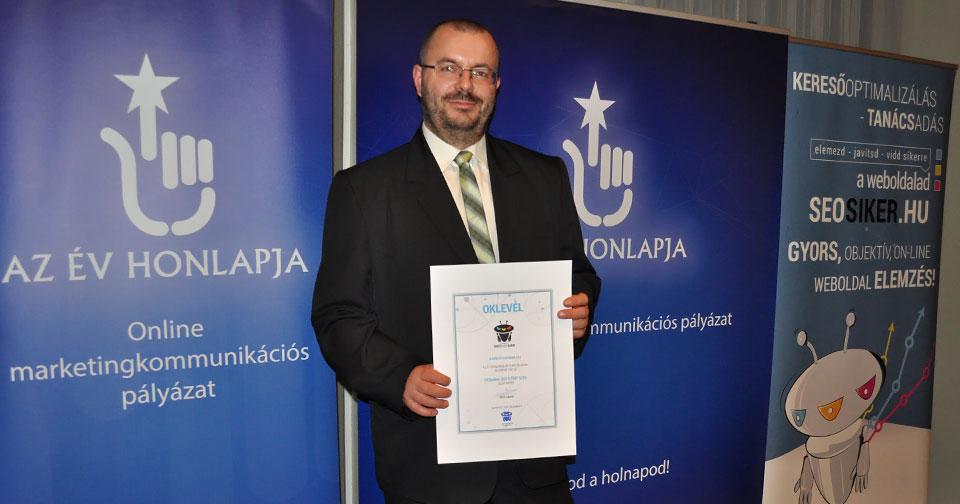 Az Év Honlapja SEOsiker 2015 TOP SITE Díj Bárdudvarnok