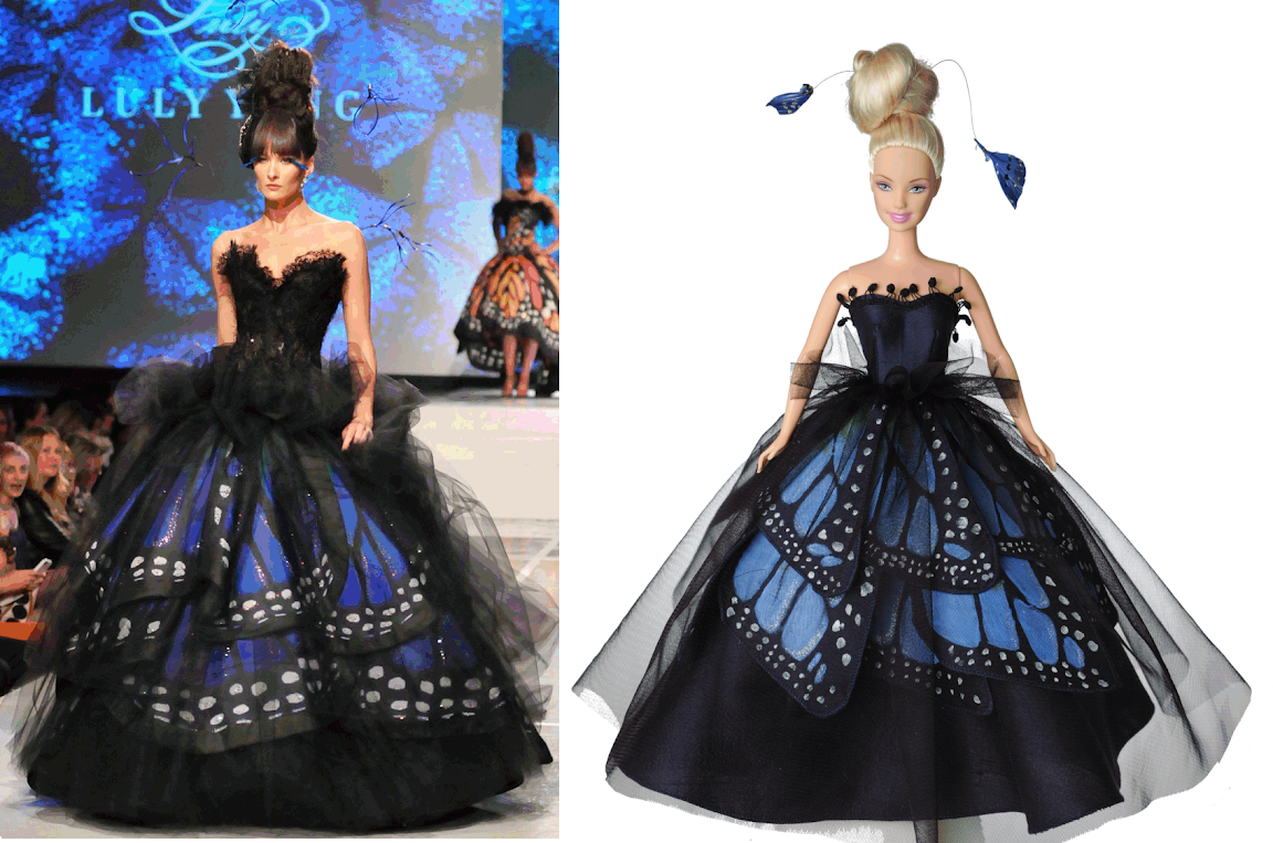 No Pattern Used Butterfly Gown For Barbie Luly Yang Blue